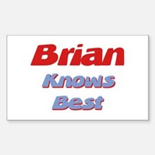 Brian Knows Best Rectangle Decal