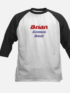 Brian Knows Best Kids Baseball Jersey