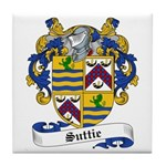 Suttie Family Crest Tile Coaster