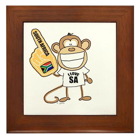 South Africa Monkey Framed Tile