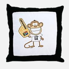 South Africa Monkey Throw Pillow