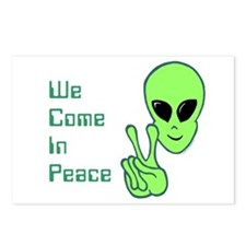 WeComeInPeace Postcards (Package of 8)