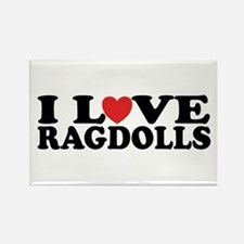 I Love Ragdoll Cats Rectangle Magnet