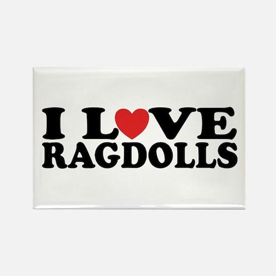 I Love Ragdoll Cats Rectangle Magnet