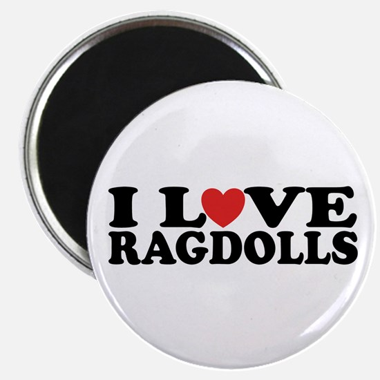 I Love Ragdoll Cats Magnet