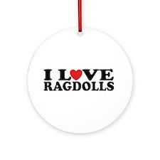 I Love Ragdoll Cats Ornament (Round)