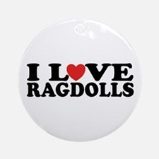 I Love Ragdoll Cats Ornament (Round)