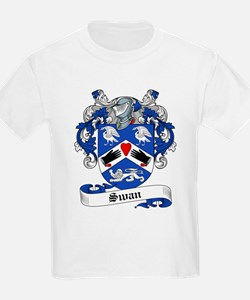 Swan Family Crest Kids T-Shirt