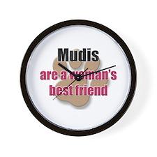 Mudis woman's best friend Wall Clock