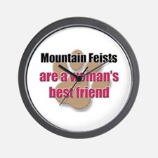Mountain Feists woman's best friend Wall Clock