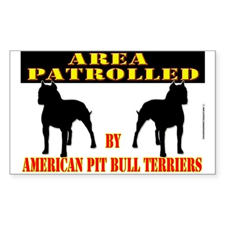 PIT BULL STICKER!! Rectangle Sticker