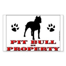 PIT BULL STICKER!! Rectangle Decal