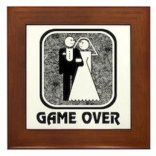 Wedding: Game Over Framed Tile