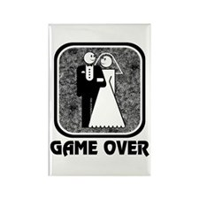 Wedding: Game Over Rectangle Magnet