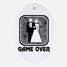 Wedding: Game Over Oval Ornament