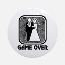 Wedding: Game Over Ornament (Round)