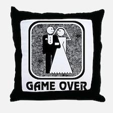 Wedding: Game Over Throw Pillow