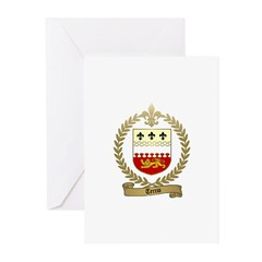 TERRIO Family Crest Greeting Cards (Pk of 10)