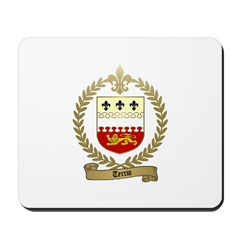 TERRIO Family Crest Mousepad