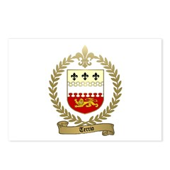 TERRIO Family Crest Postcards (Package of 8)