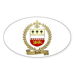 TERRIO Family Crest Oval Decal