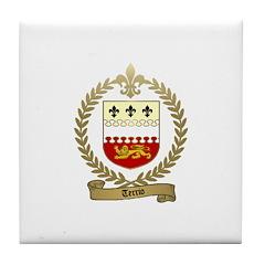 TERRIO Family Crest Tile Coaster