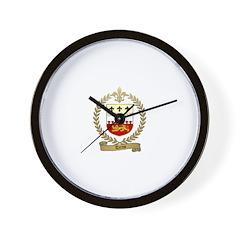 TERRIO Family Crest Wall Clock