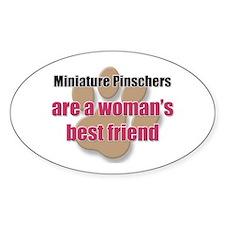 Miniature Pinschers woman's best friend Decal