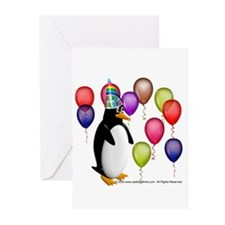 Party Animal Penguin Greeting Cards (Pk of 10)