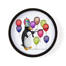 Party Animal Penguin Wall Clock