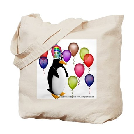 Party Animal Penguin Tote Bag