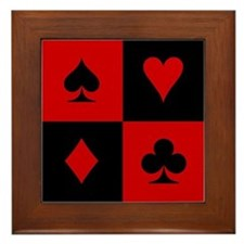 Card Player Framed Tile
