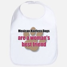 Mexican Hairless Dogs woman's best friend Bib