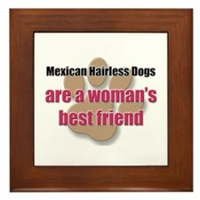 Mexican Hairless Dogs woman's best friend Framed T