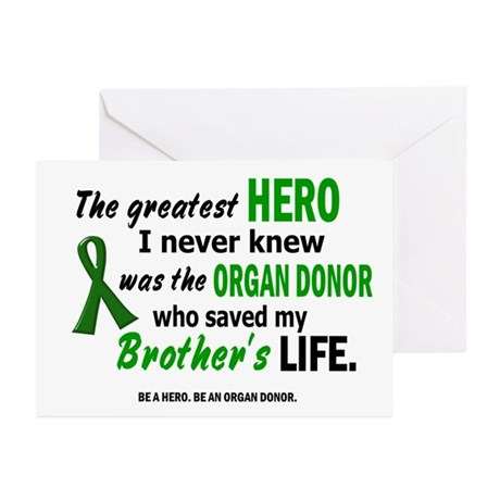Hero I Never Knew 1 (Brother) Greeting Cards (Pk o