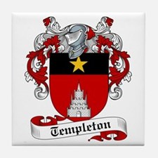 Templeton Family Crest Tile Coaster