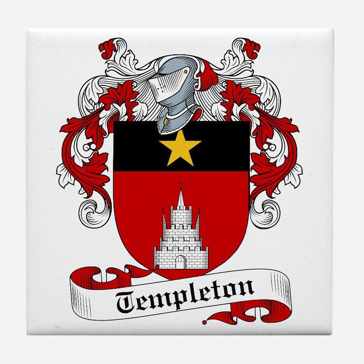 Templeton Family Crest Tile Coaster