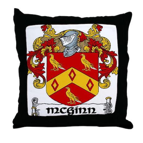 McGinn Coat of Arms Throw Pillow