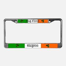 McGinn in Irish & English License Plate Frame