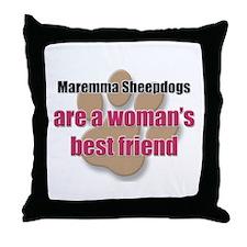 Maremma Sheepdogs woman's best friend Throw Pillow