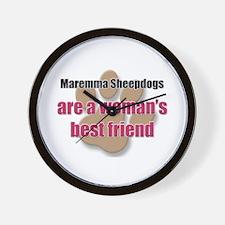Maremma Sheepdogs woman's best friend Wall Clock