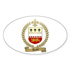 THERIOT Family Crest Oval Decal