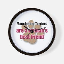 Manchester Terriers woman's best friend Wall Clock