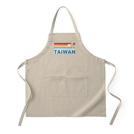 Retro Palm Tree Taiwan BBQ Apron