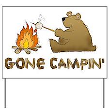 Gone Campin' Yard Sign