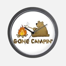 Gone Campin' Wall Clock