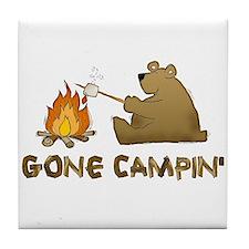 Gone Campin' Tile Coaster