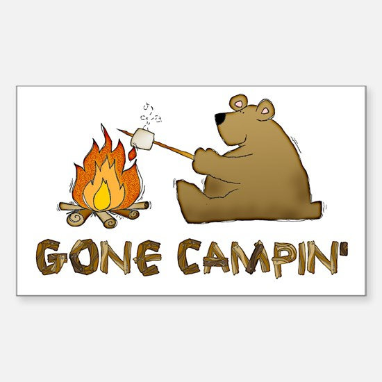 Gone Campin' Rectangle Decal