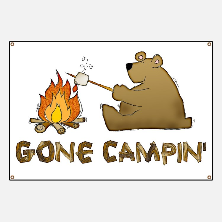 Gone Campin' Banner