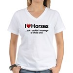 The Horse Meet Women's V-Neck T-Shirt